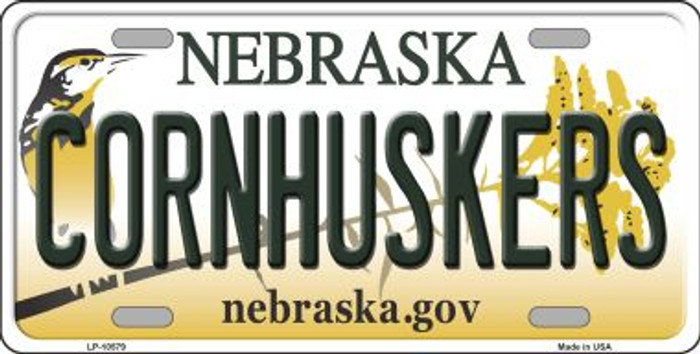 Cornhuskers Nebraska Background Metal Novelty License Plate