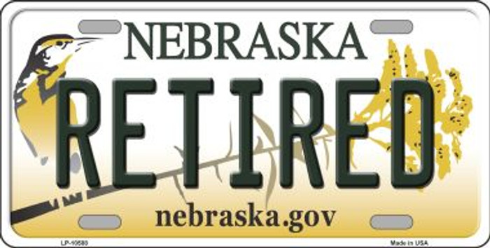 Retired Nebraska Background Metal Novelty License Plate