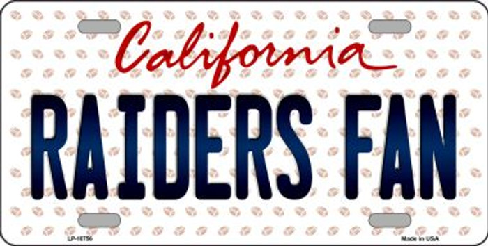 Raiders Fan California Background Novelty Metal License Plate