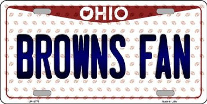 Browns Fan Ohio Background Novelty Metal License Plate