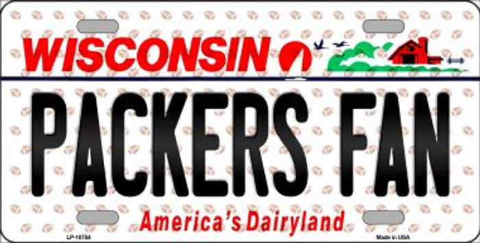 Packers Fan Wisconsin Background Novelty Metal License Plate