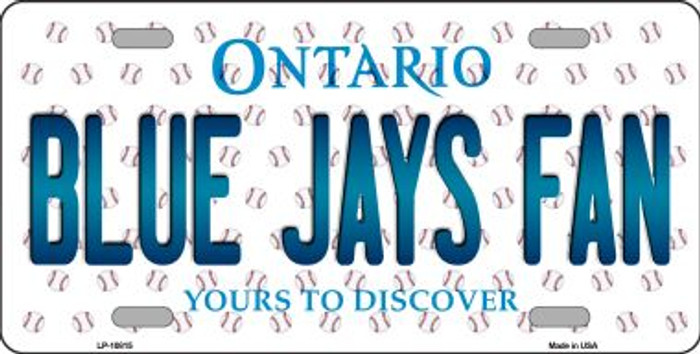 Blue Jays Fan Ontario Background Novelty Metal License Plate