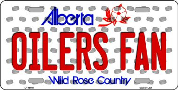 Oilers Fan Alberta Background Novelty Metal License Plate
