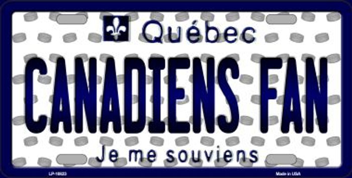 Canadiens Fan Quebec Background Novelty Metal License Plate