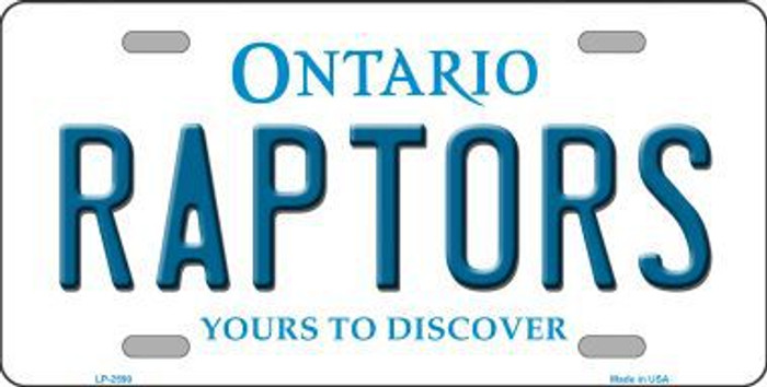 Raptors Ontario State Background Metal Novelty License Plate LP-2590