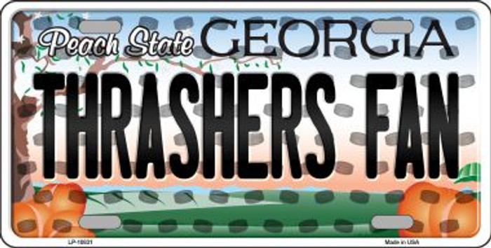 Thrashers Fan Georgia Background Novelty Metal License Plate