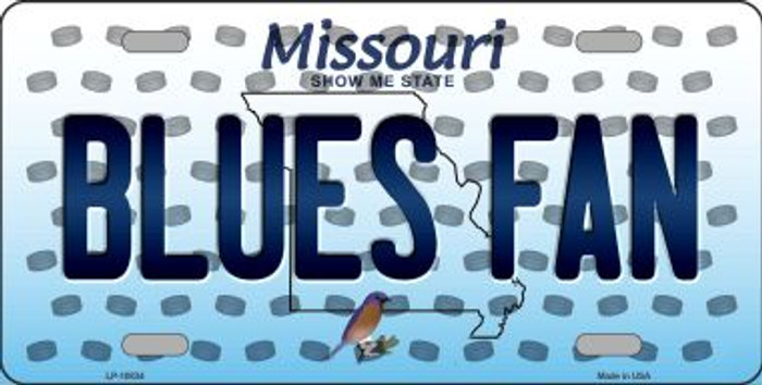 Blues Fan Missouri Background Novelty Metal License Plate