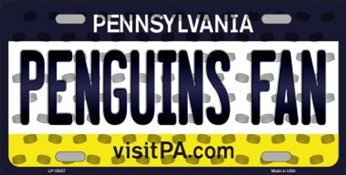 Penguins Fan Pennsylvania Background Novelty Metal License Plate