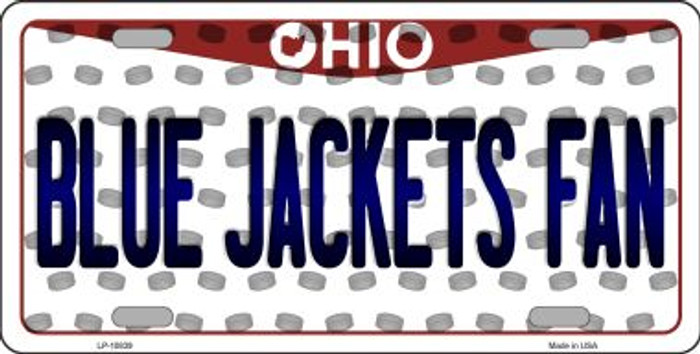 Blue Jackets Fan Ohio Background Novelty Metal License Plate