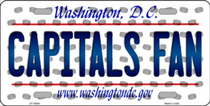 Capitals Fan Washington DC Background Novelty Metal License Plate