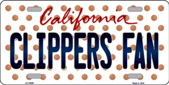 Clippers Fan California Background Novelty Metal License Plate