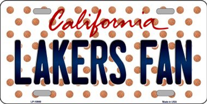 Lakers Fan California Background Novelty Metal License Plate