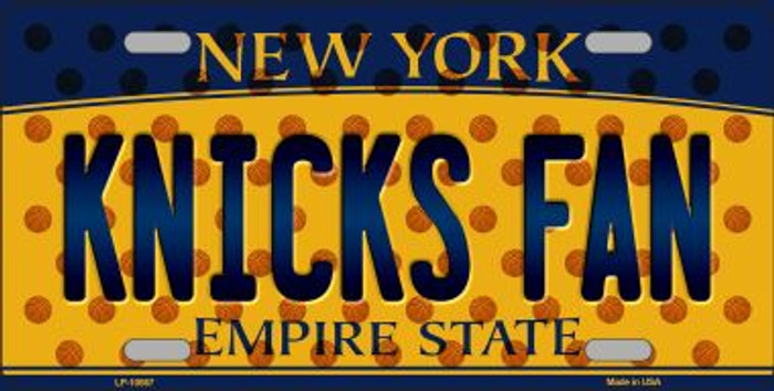 Knicks Fan New York Background Novelty Metal License Plate