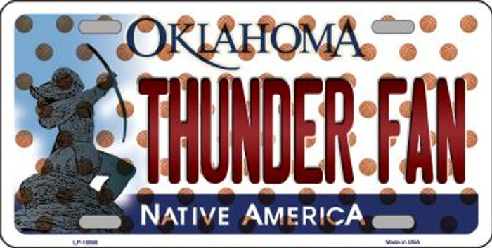 Thunder Fan Oklahoma Background Novelty Metal License Plate
