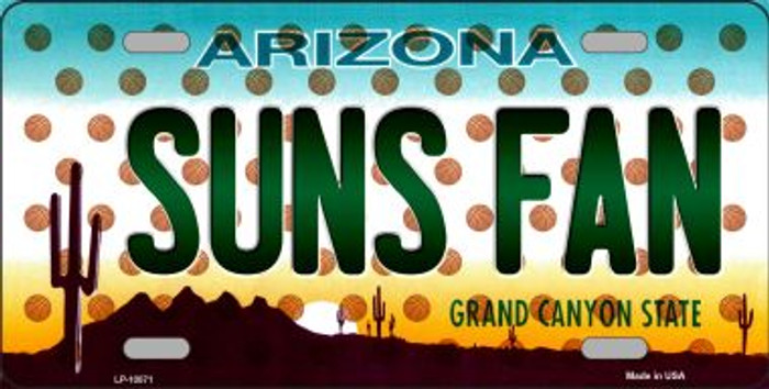 Suns Fan Arizona Background Novelty Metal License Plate