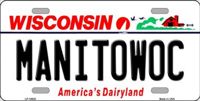 Manitowoc Wisconsin Background Metal Novelty License Plate