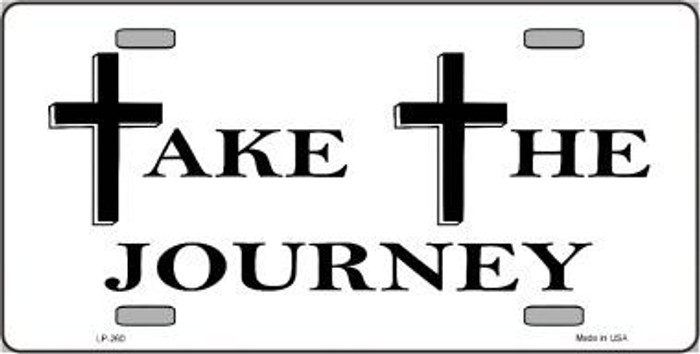 Take The Journey Vanity Metal Novelty License Plate LP-260