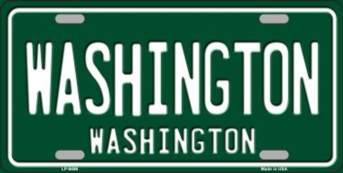 Washington Green Background Metal Novelty License Plate