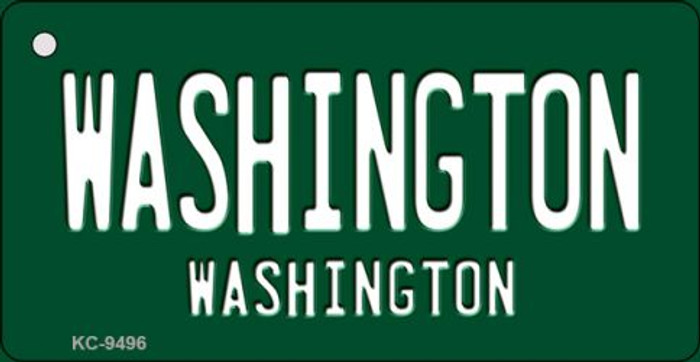 Washington Green Background Novelty Key Chain