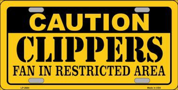 Caution Clippers Fan Metal Novelty License Plate LP-2604