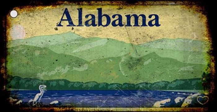 Alabama Rusty Background Novelty Key Chain