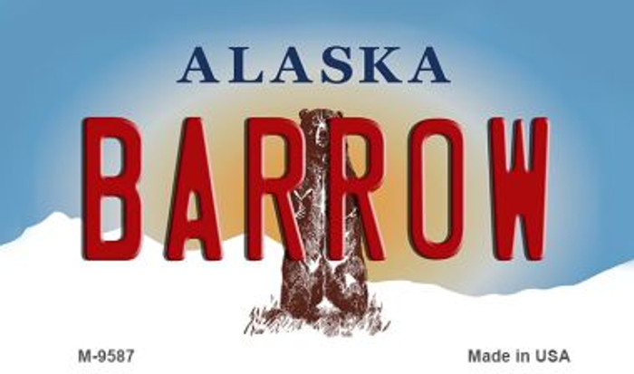 Barrow Alaska State Background Novelty Metal Magnet
