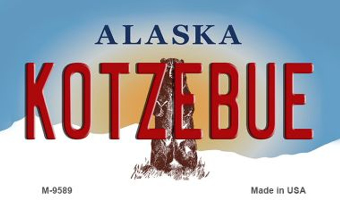 Kotzebue Alaska State Background Novelty Metal Magnet