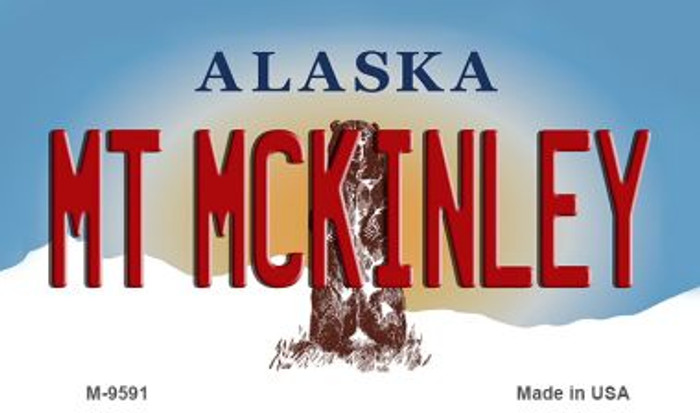 Mt McKinley Alaska State Background Novelty Metal Magnet