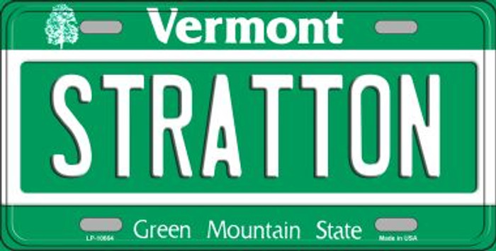 Stratton Vermont Background Metal Novelty License Plate