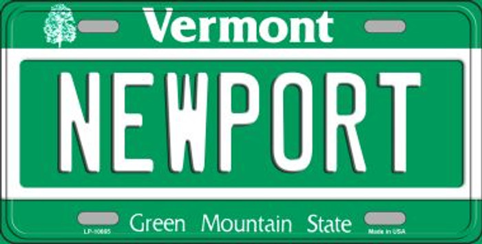 Newport Vermont Background Metal Novelty License Plate