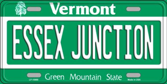 Essex Junction Vermont Background Metal Novelty License Plate