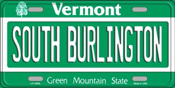 South Burlington Vermont Background Metal Novelty License Plate