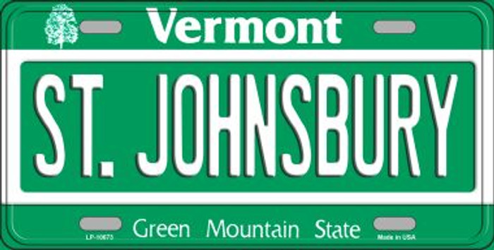 St Johnsbury Vermont Background Metal Novelty License Plate