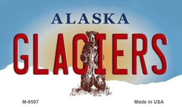 Glaciers Alaska State Background Novelty Metal Magnet
