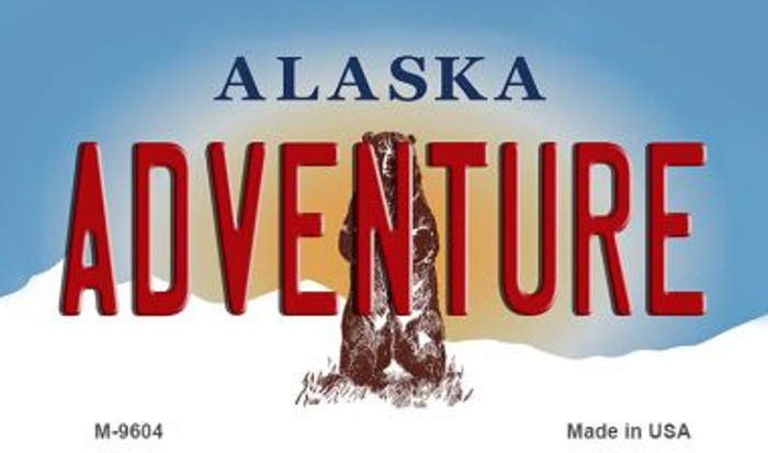 Adventure Alaska State Background Novelty Metal Magnet
