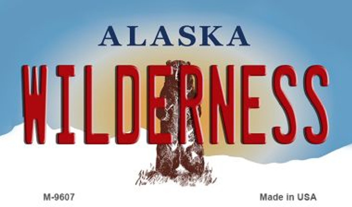 Wilderness Alaska State Background Novelty Metal Magnet