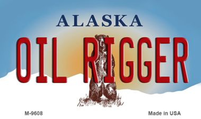 Oil Rigger Alaska State Background Novelty Metal Magnet