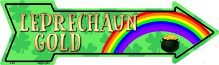 Leprechaun Gold Novelty Metal Arrow Sign