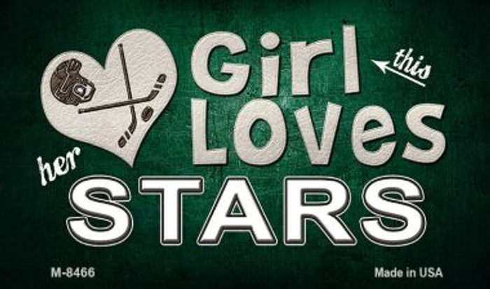 This Girl Loves Her Stars Novelty Metal Magnet