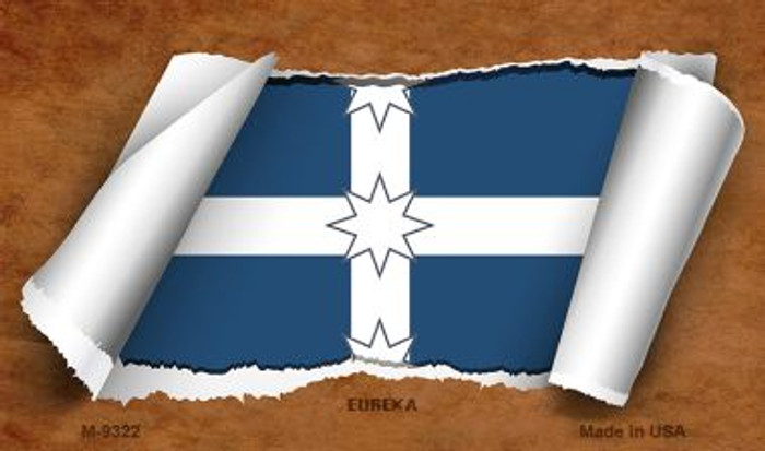 Eureka Flag Scroll Novelty Metal Magnet