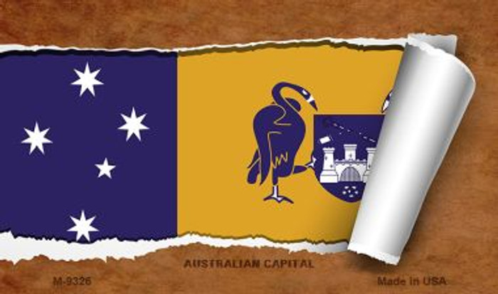 Australian Capital Flag Scroll Novelty Metal Magnet