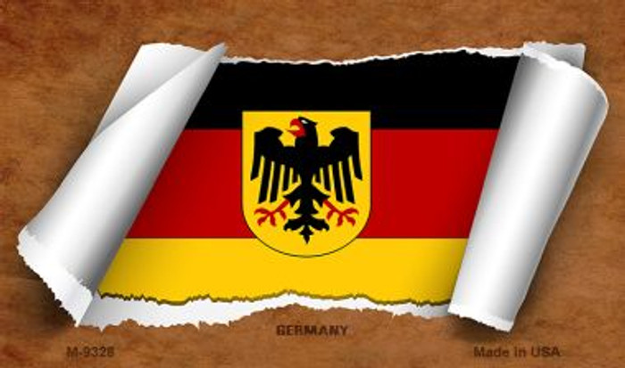 Germany Flag Scroll Novelty Metal Magnet