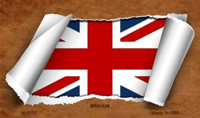 Britain Flag Scroll Novelty Metal Magnet