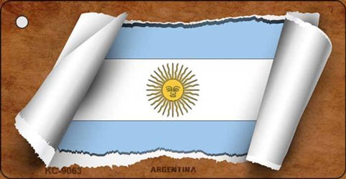 Argentina Flag Scroll Novelty Key Chain