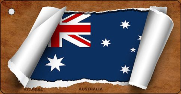 Australia Flag Scroll Novelty Key Chain