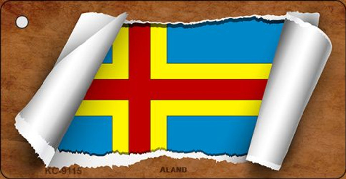 Aland Flag Scroll Novelty Key Chain