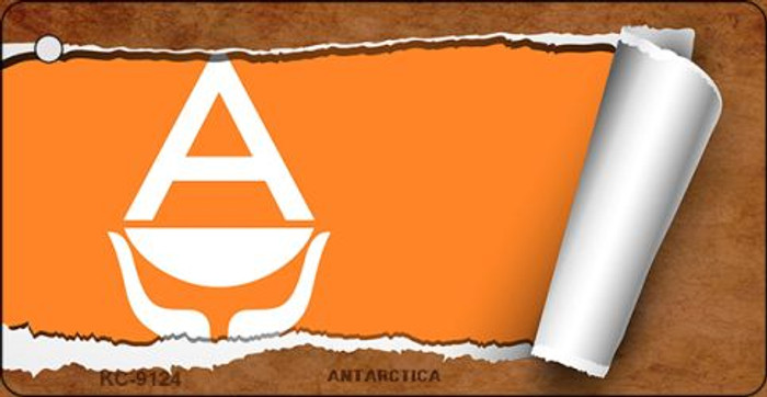 Antarctica Flag Scroll Novelty Key Chain