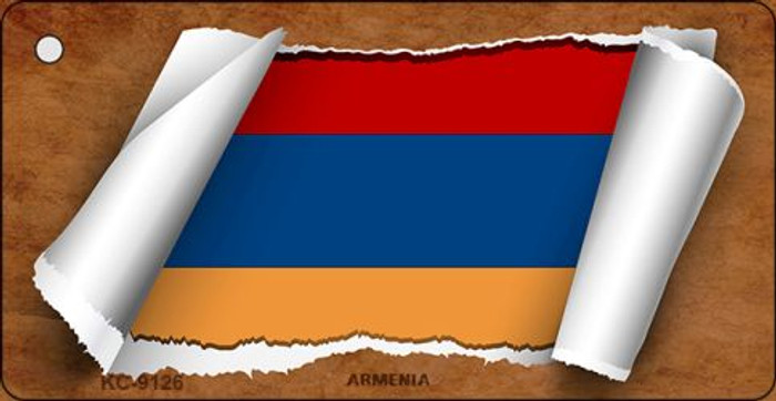 Armenia Flag Scroll Novelty Key Chain