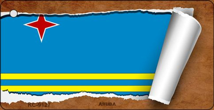 Aruba Flag Scroll Novelty Key Chain