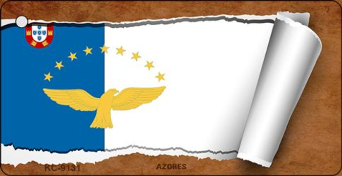 Azores Flag Scroll Novelty Key Chain